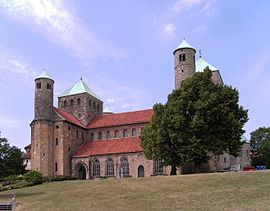 Romanesque architecture flourished in the early Middle Ages: Hildesheim.