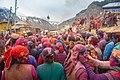 Himachali people celebrating Holi on the streets.jpg