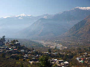 Kullu Valley - Image: Himalayas from Kullu Valley, Himachal Pradesh