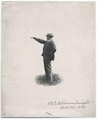 A. L. A. Himmelwright - Himmelwright was an expert marksman. This image from 1900, is one of several posed with a pistol. (Photo from Yale University Libraries collection.)