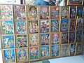 Hindu deity posters shop at Idar, Gujarat, India.jpg