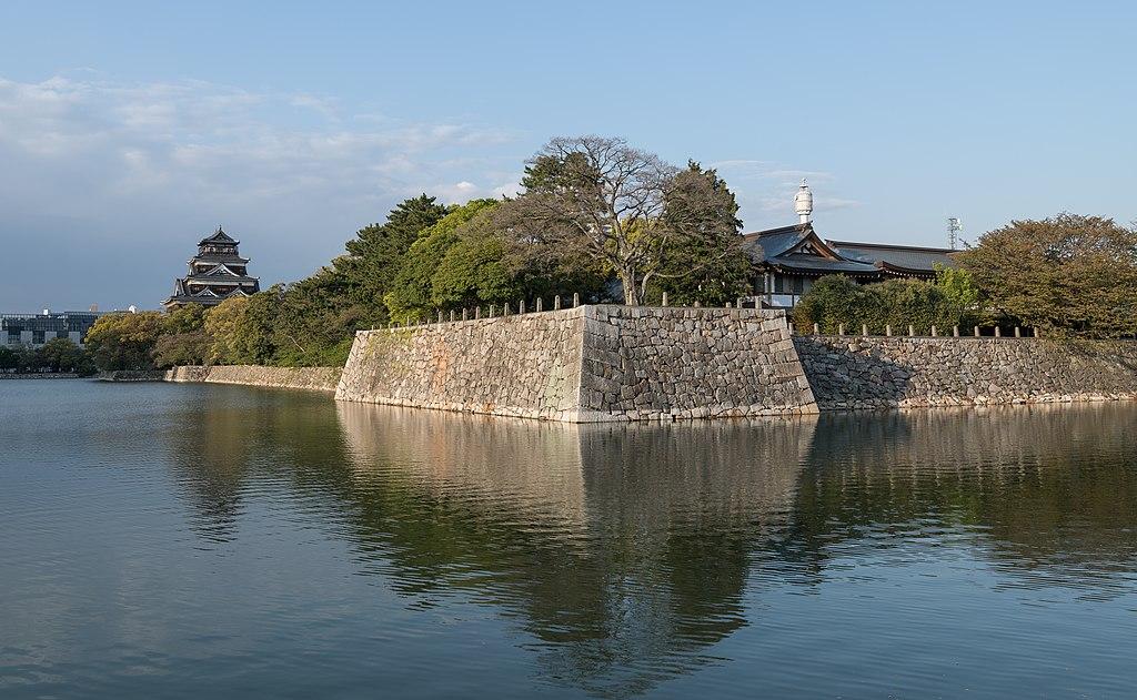 Hiroshima Castle, West view 20190417 1