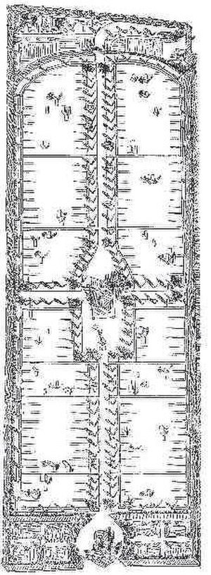 Histon Road Cemetery, Cambridge - Original plan as published by Loudon in 1843 in the Gardener's Magazine.
