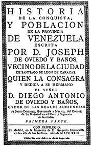 Conquista de Venezuela  Wikipedia la enciclopedia libre