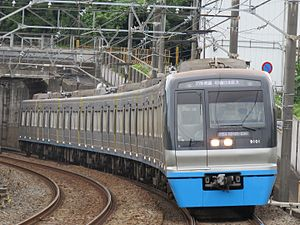 Chiba New Town Railway 9100 series - Set 9101 in August 2016