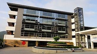 Hong Kong International School - Front view of the Hong Kong International School (HKIS)