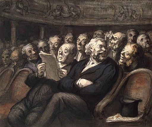 Honoré Daumier - Intermission at the Comédie Française - WGA05962