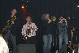 Southside Johnny - The horn section of the Asbury Jukes in 2006
