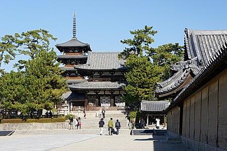 Horyu-ji temple in Ikaruga, Nara Prefectue, Japan.