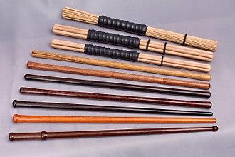 Bodhrán - Image: Hot rods sticks tipper hinnerk ruemenapf
