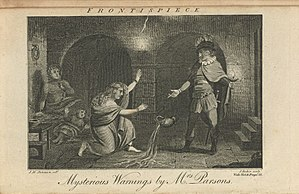 Eliza Parsons - Frontispiece to The Mysterious Warning, 1796