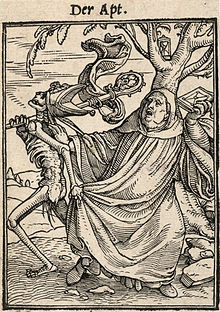 The Abbot From Dance Of Death By Hans Holbein Younger