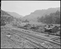 Houses along the railroad track in Arjay, 1946.  Photo by Russell Lee.