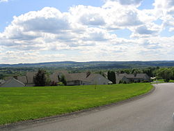 A neighborhood in the hills of the town of Manlius outside the village of Manlius