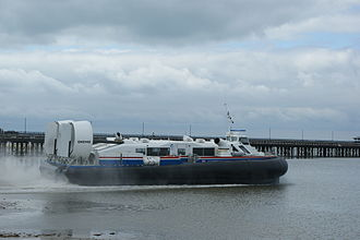 Ryde - Hovercraft leaving Ryde
