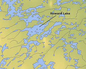 Howard Lake (Northwest Territories) - Map