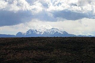 Hualca Hualca volcano in Peru