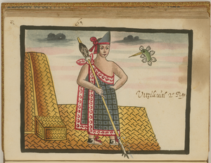 Huitzilihuitl - Huitzilihuitl as depicted in the Tovar Codex.