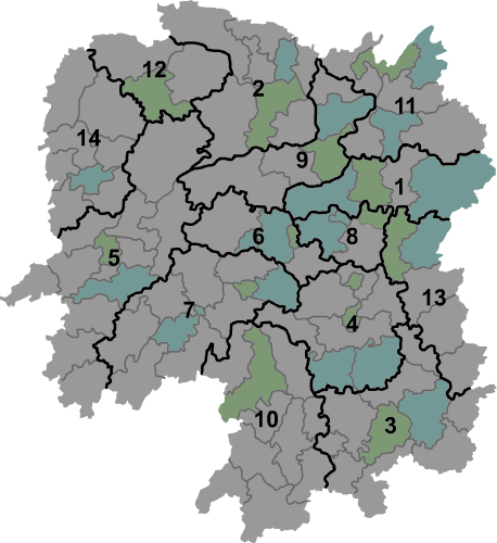 Hunan prfc map