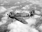 Hurricane IIC 3 Sqn RAF in flight c1942