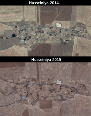 Human rights in Rojava - Image: Husseiniya village