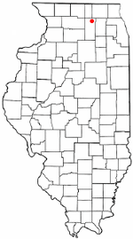 Location of Genoa, Illinois