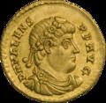 INC-1867-a Солид. Валент II. Ок. 375—378 гг. (аверс).png