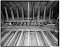 INTERIOR, ROOF RAFTERS FACING WEST - Merit-Tandy Farmstead, RR 1,Box 225, Patriot, Switzerland County, IN HABS IND,78-PAT.V,1-13.tif