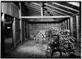 INTERIOR VIEW - Adams Mansion, Woodshed, 135 Adams Street, Quincy, Norfolk County, MA HABS MASS,11-QUI,5E-2.tif