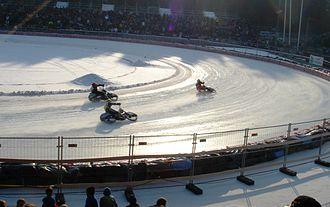 Ice racing - Motorcycle ice racing using studded tires