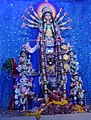 Idol of Goddess Durga being worshipped in a Panadal at Kolkata 03.jpg