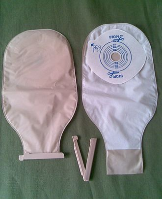 Ostomy pouching system - One-piece (open-end) bags