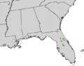 Illicium parviflorum range map.png