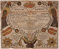 Illustrated family record (Fraktur) found in Revolutionary War Pension and Bounty-Land-Warrant Application File... - NARA - 300195.jpg