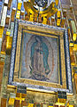 Image of the Virgin Mary at the new Basilica of Our Lady of Guadalupe, Mexico City.jpg