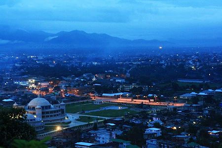 Imphal city nightview Imphal view.jpg