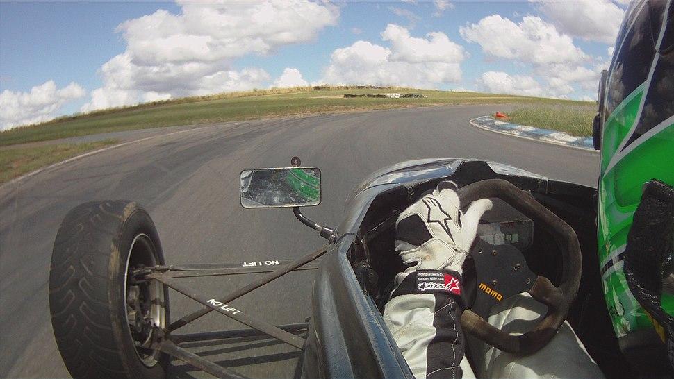 In Car Micheal Fitzgerald Cork Racing