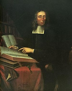 Mather House (Harvard College) - Portrait of Increase Mather by Joan van der Spriet. Increase Mather is the namesake of Mather House.