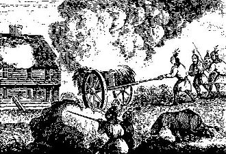King Philip's War - Image: Indians Attacking a Garrison House