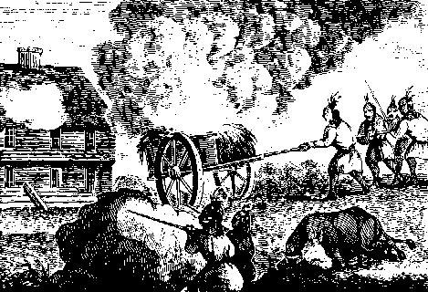Indians Attacking a Garrison House