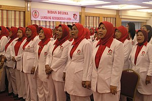 Women in Islam - Newly qualified midwives in Indonesia, the world's largest Muslim country