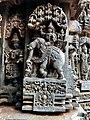 Indra with Indrani, 13th century Keshava temple Somanathpur.jpg