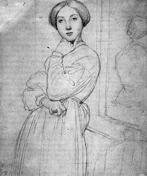 Louise de Broglie, Countess d'Haussonville - Ingres, figure study, circa 1844