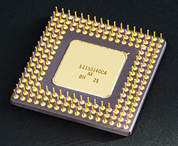 Intel 80486DX2 microprocessor in a ceramic PGA package
