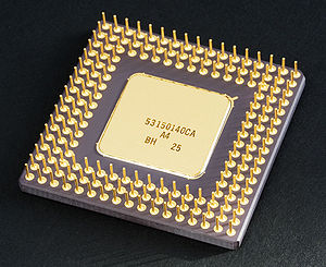An Intel 80486DX2 from below