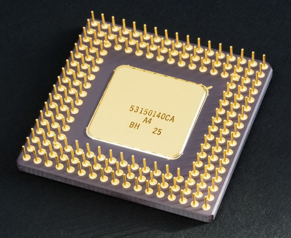 Intel 80486DX2 bottom