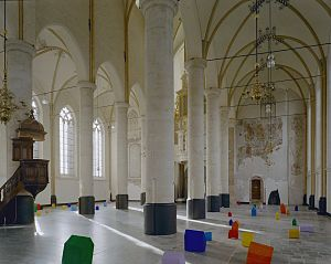 St Nicholas Church, Deventer - Interior during an exhibition of Museum de Fundatie in 2002