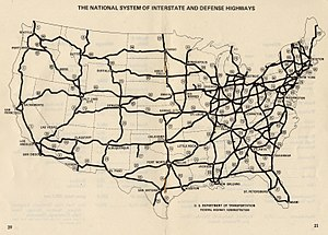 Forgottonia - Interstate Highway Plan, October 1970.  Note 1968 additions.