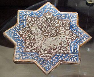 Persian art - Star-tile, Kashan, 13-14th century