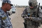 Iraqi National Police Officer meeting in Baghdad, Iraq DVIDS164341.jpg